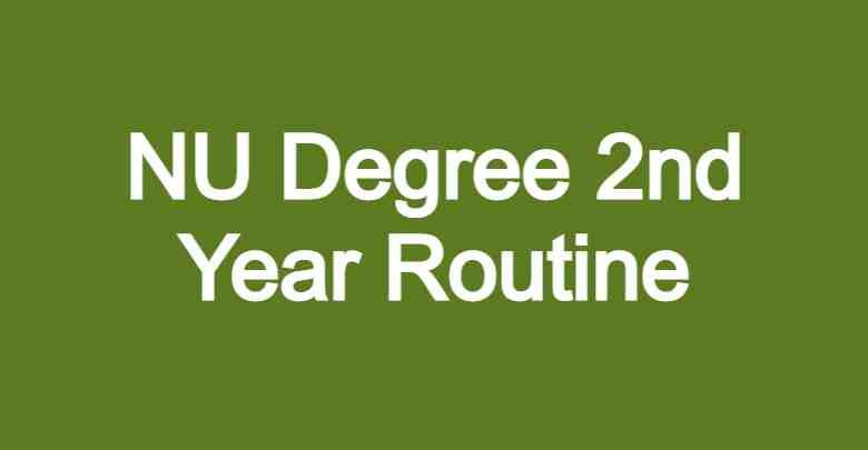 NU Degree 2nd Year Routine