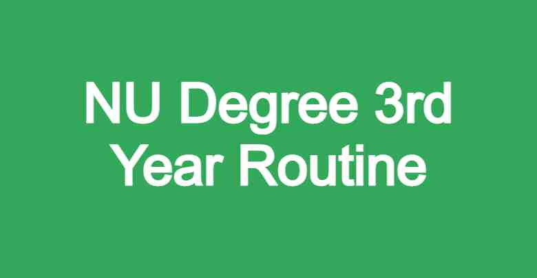 NU Degree 3rd Year Routine