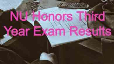 NU Honors Third Year Exam Results 2020
