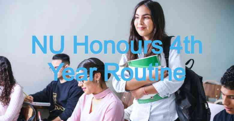 NU Honours 4th Year Routine