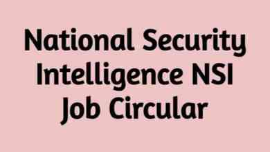 National Security Intelligence NSI Job Circular