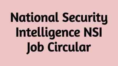 National Security Intelligence NSI Job Circular