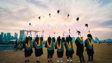 All Public University Admission Circular