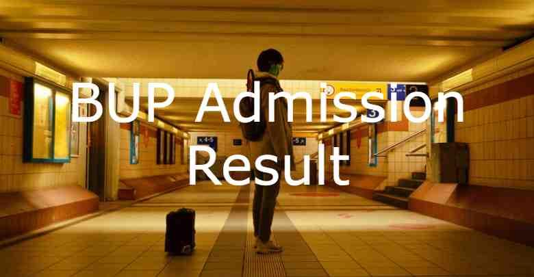 BUP Admission Result